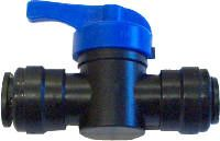 Push fit shut off valve 12 mm